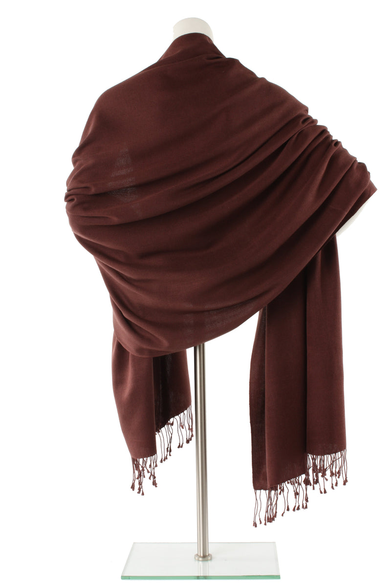 Coffee Cashmere and Silk Wrap