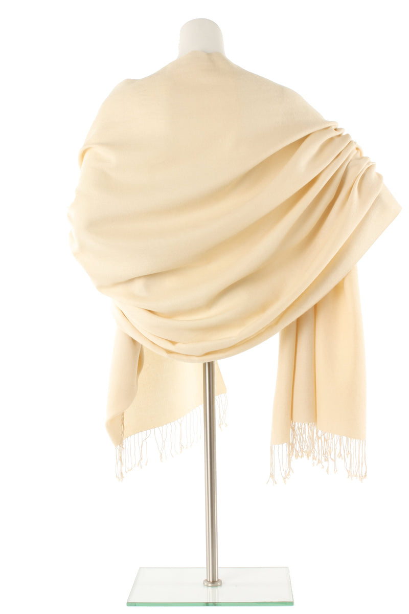 Egg Shell Cashmere and Silk Wrap