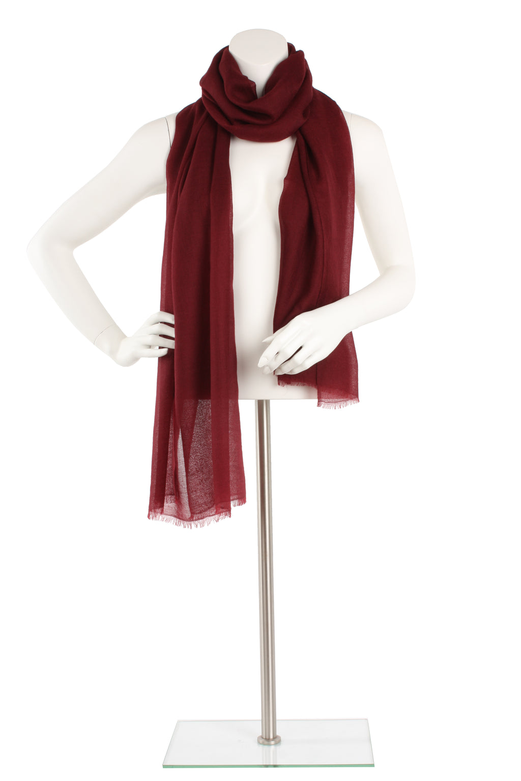 Mahogany Luxe Cashmere Oversized Scarf