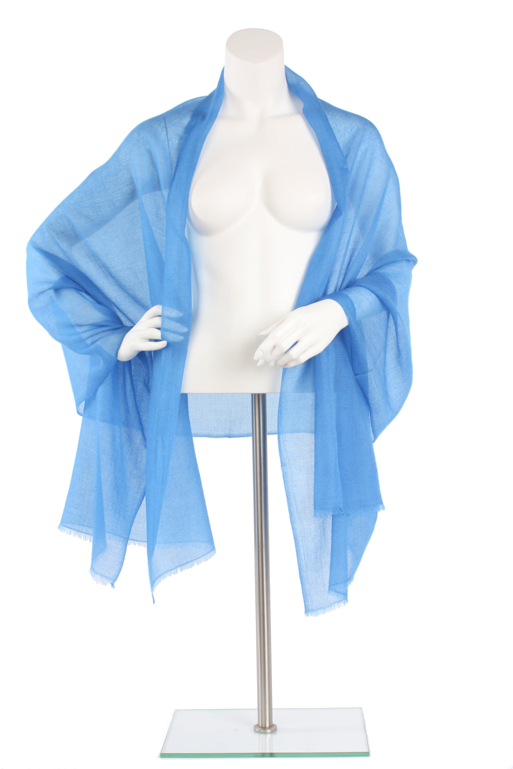 Sky Blue Luxe Cashmere Oversized Scarf