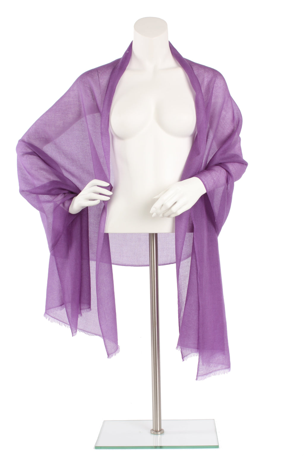 Light Violet Luxe Cashmere Oversized Scarf