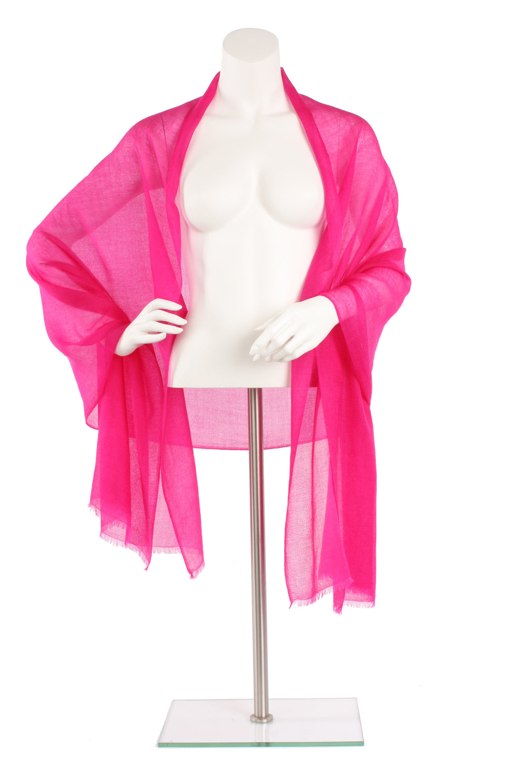 Flamingo Pink Luxe Cashmere Oversized Scarf