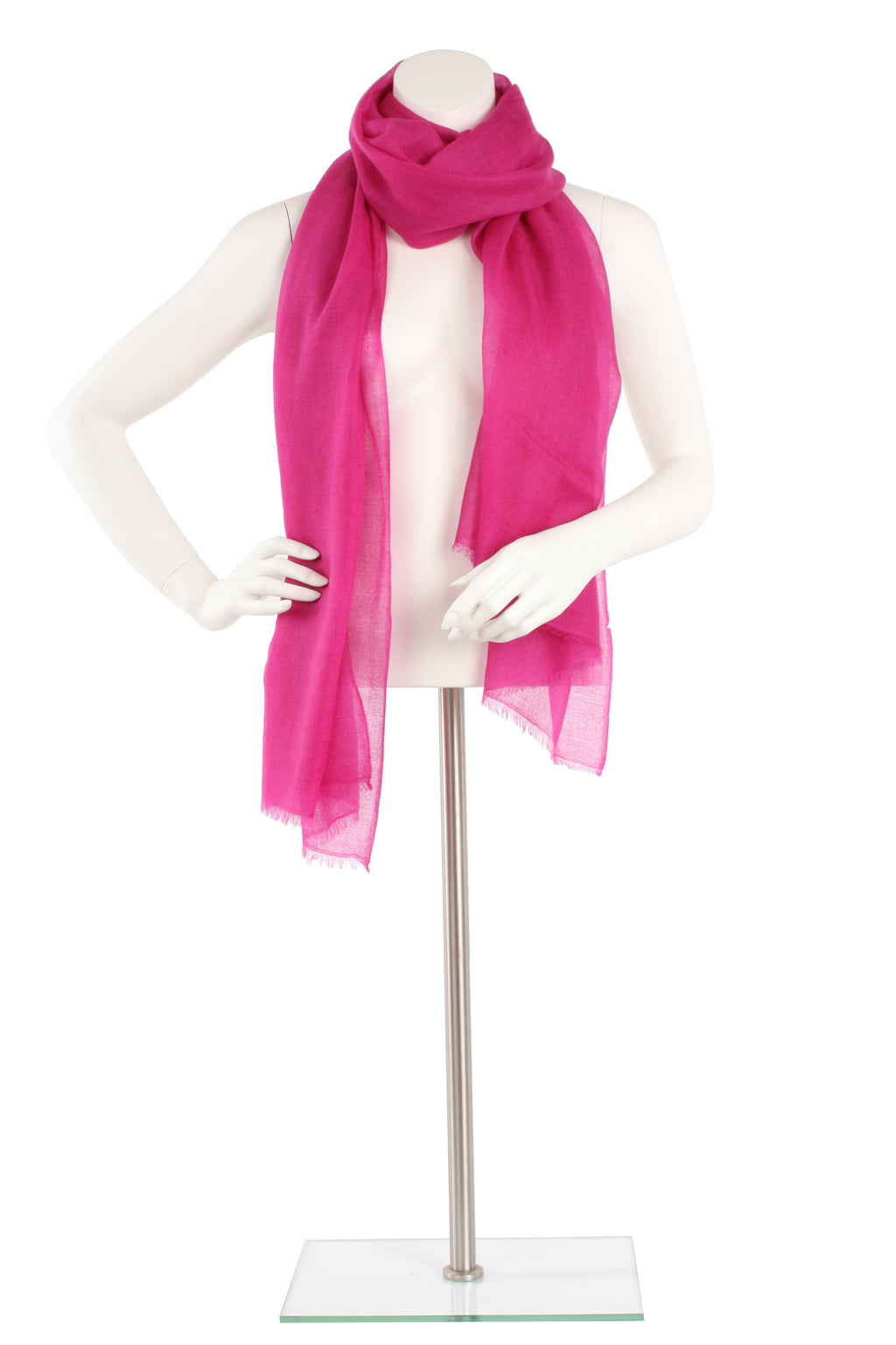 Hot Pink Luxe Cashmere Oversized Scarf