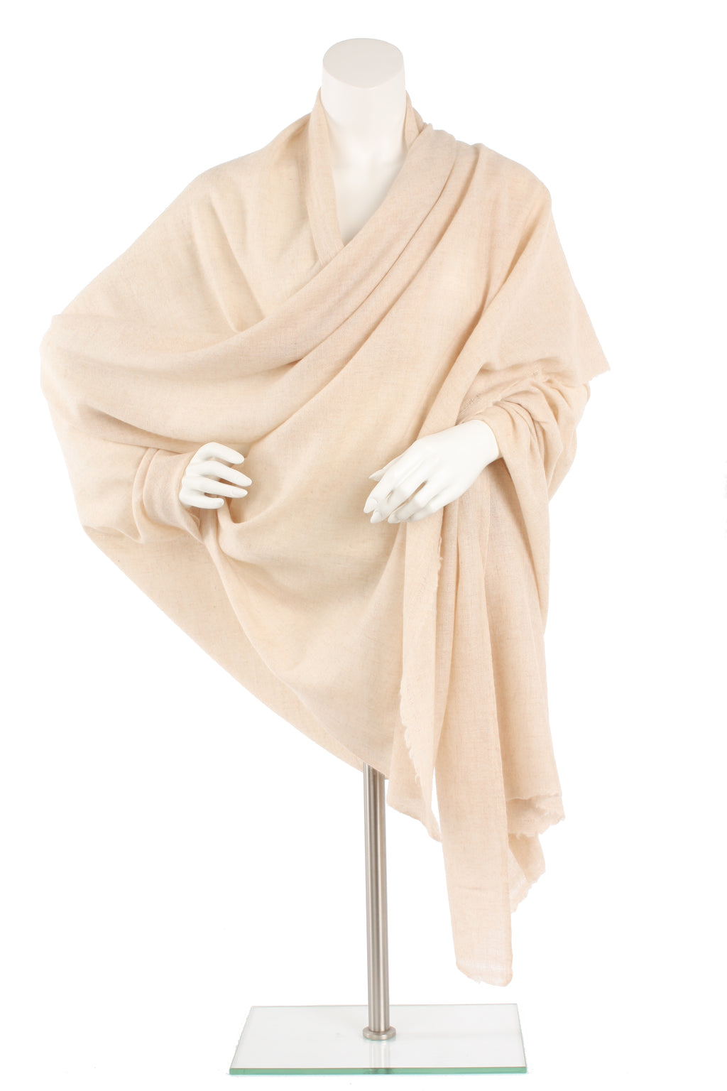 Natural Cashmere Traveler Wrap