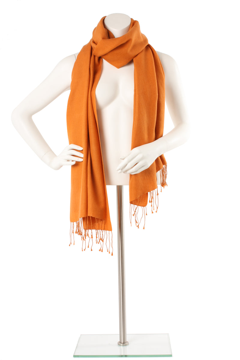 Ginger Cashmere and Silk Oversized Scarf
