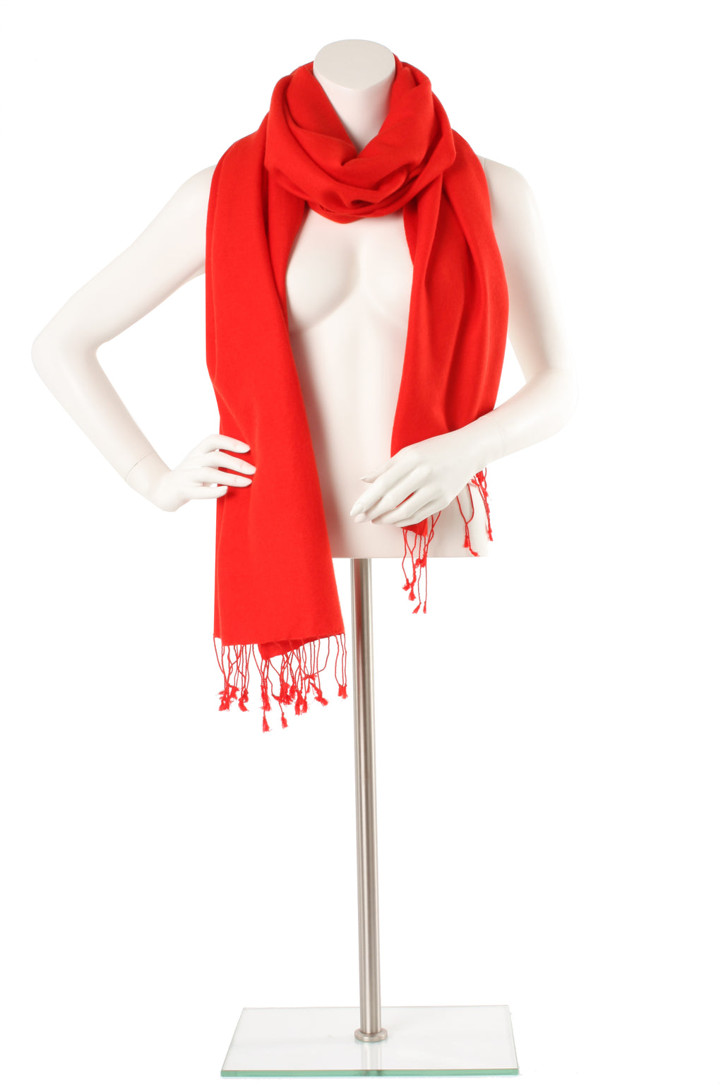 Scarlet Cashmere and Silk Oversized Scarf