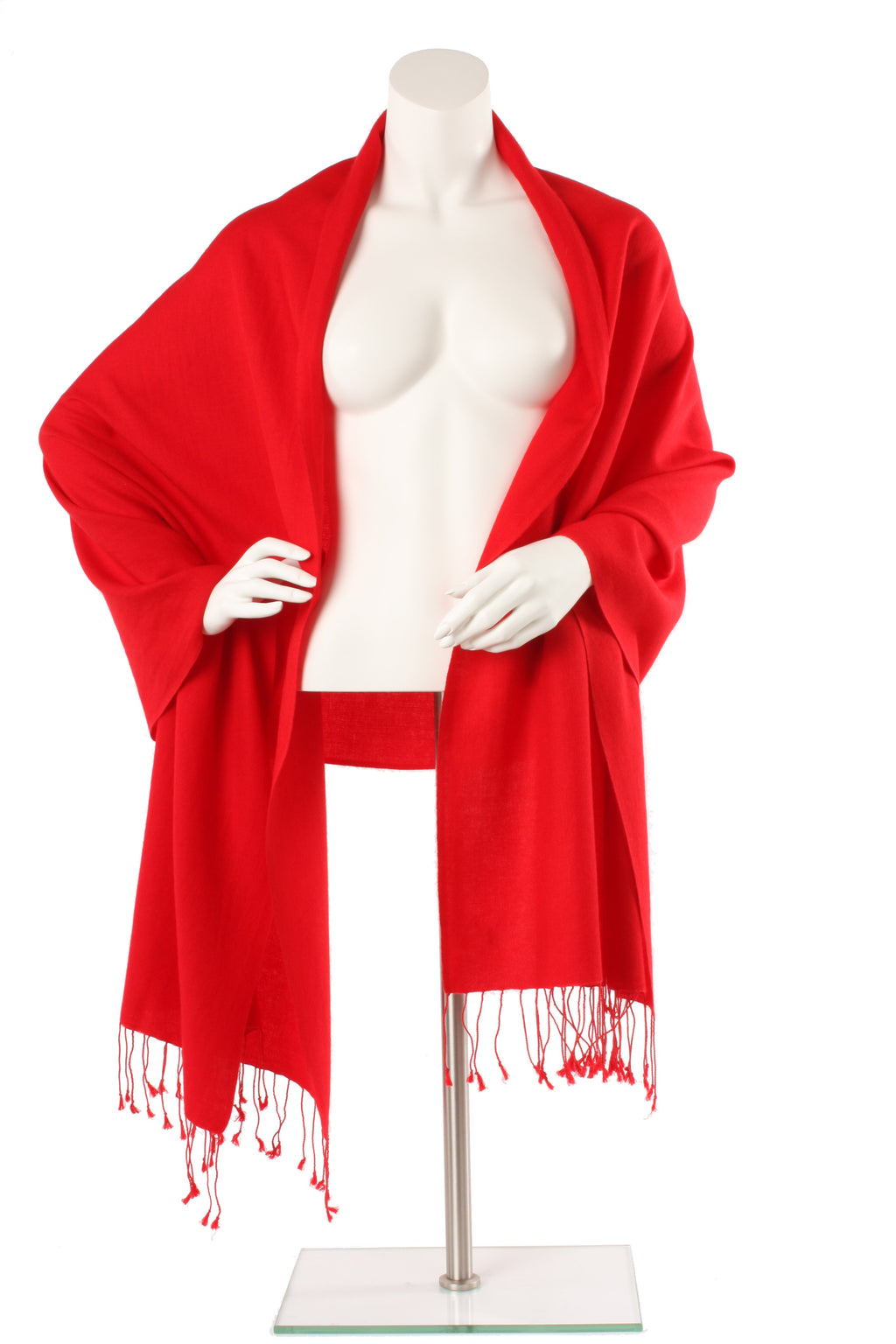 Red Cashmere and Silk Oversized Scarf