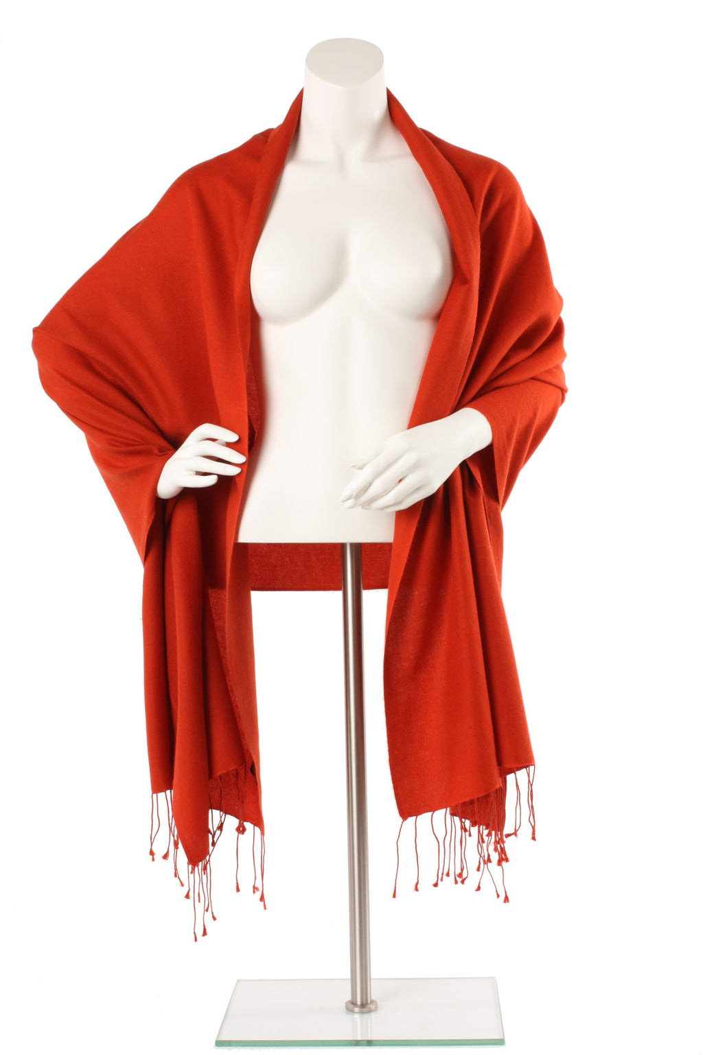 Cinnibar Cashmere and Silk Oversized Scarf
