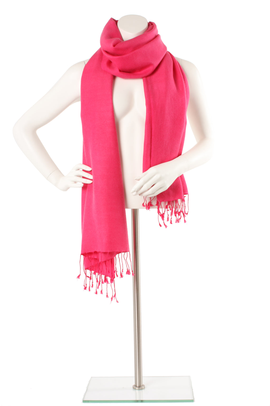 Cerise Cashmere and Silk Oversized Scarf