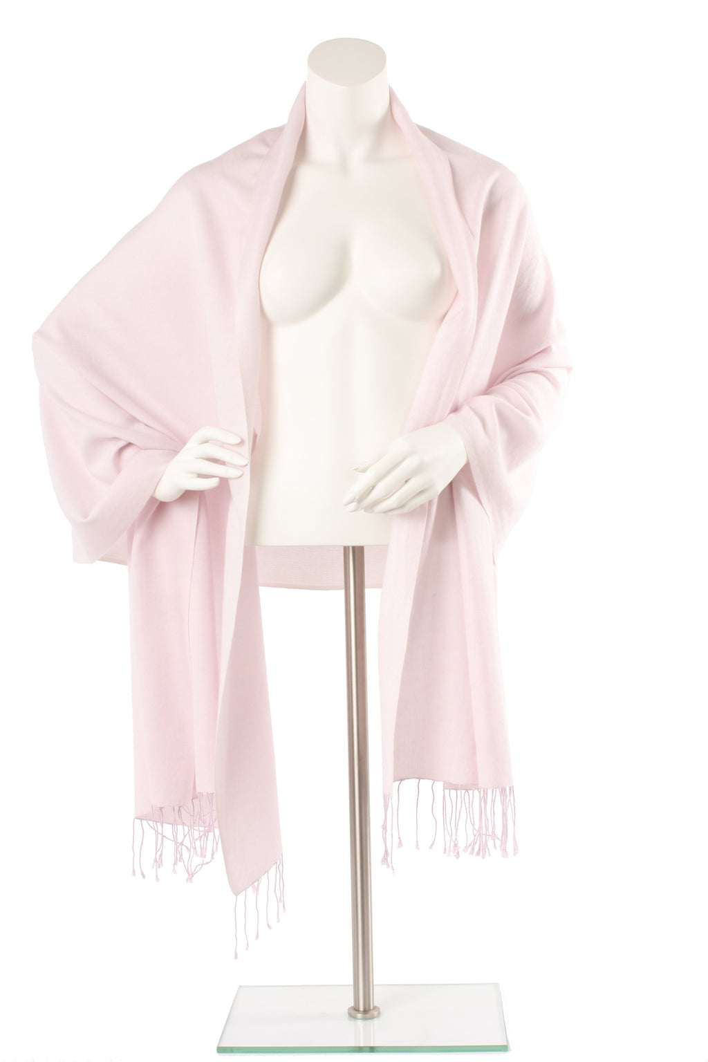 Rose Quartz Cashmere and Silk Oversized Scarf