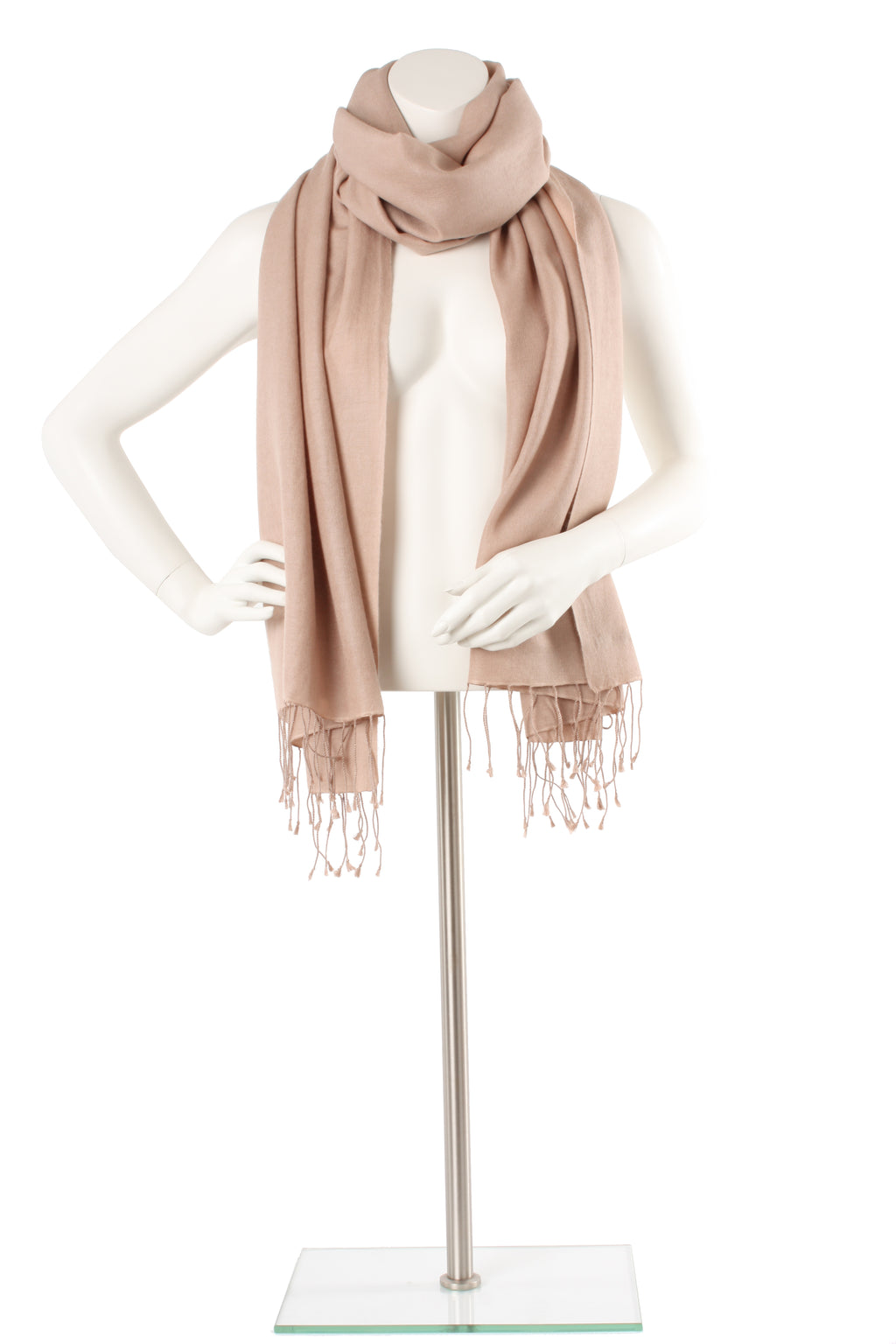 Buff Cashmere and Silk Oversized Scarf