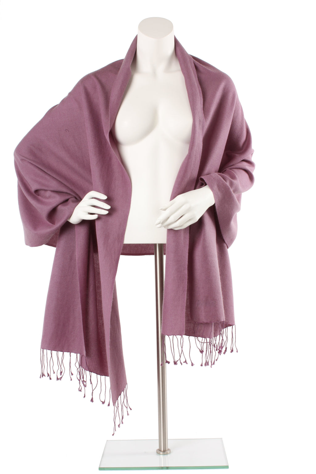 Dusty Lavendar Cashmere and Silk Oversized Scarf