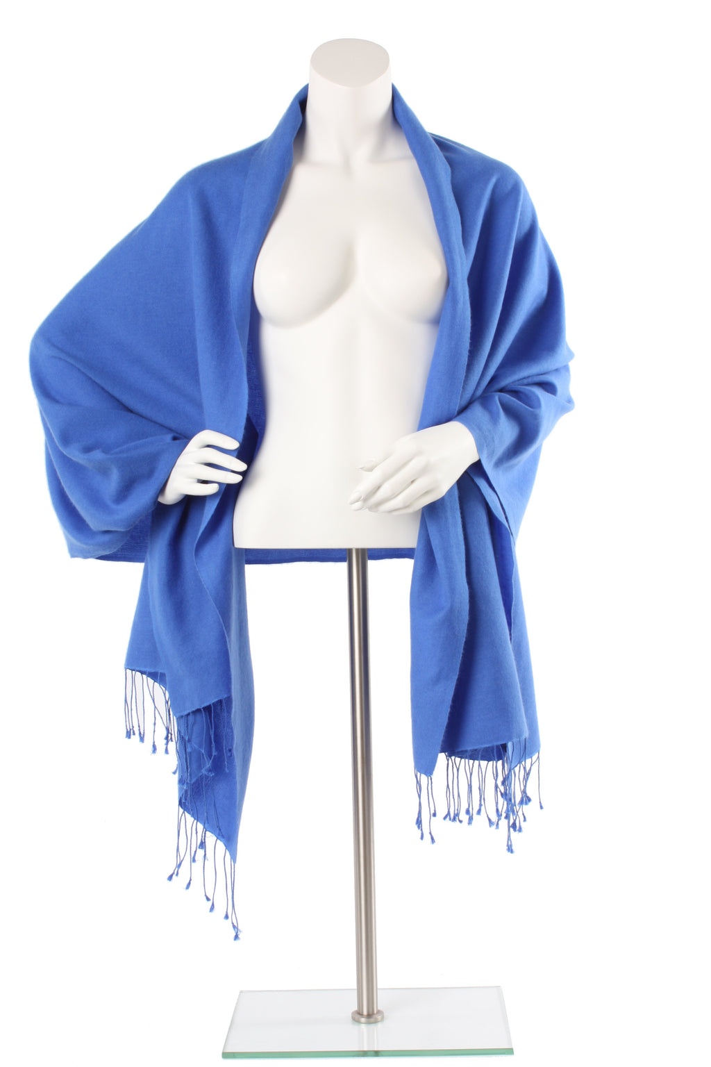 Cobalt Cashmere and Silk Oversized Scarf