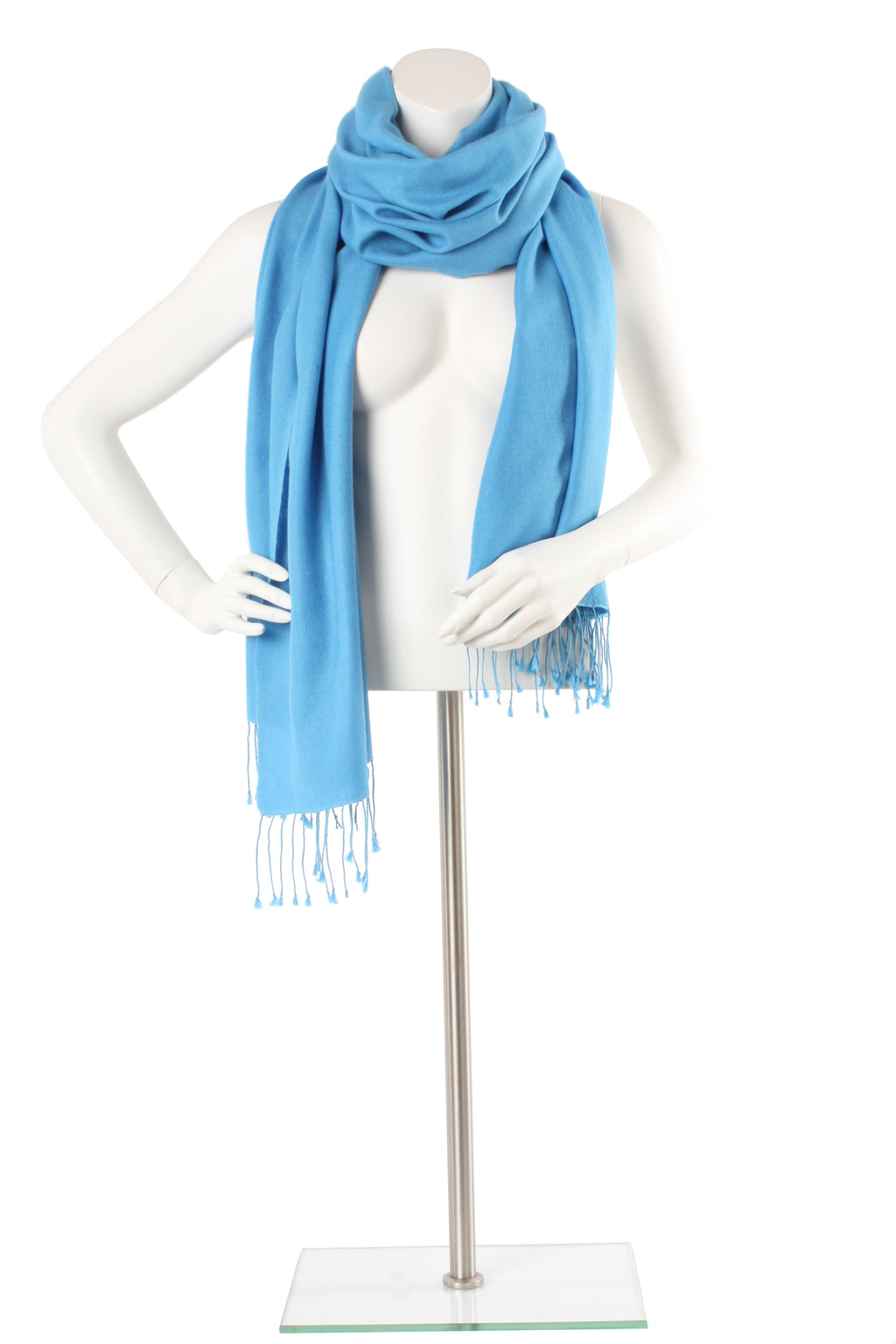 Deep Sky Cashmere and Silk Oversized Scarf
