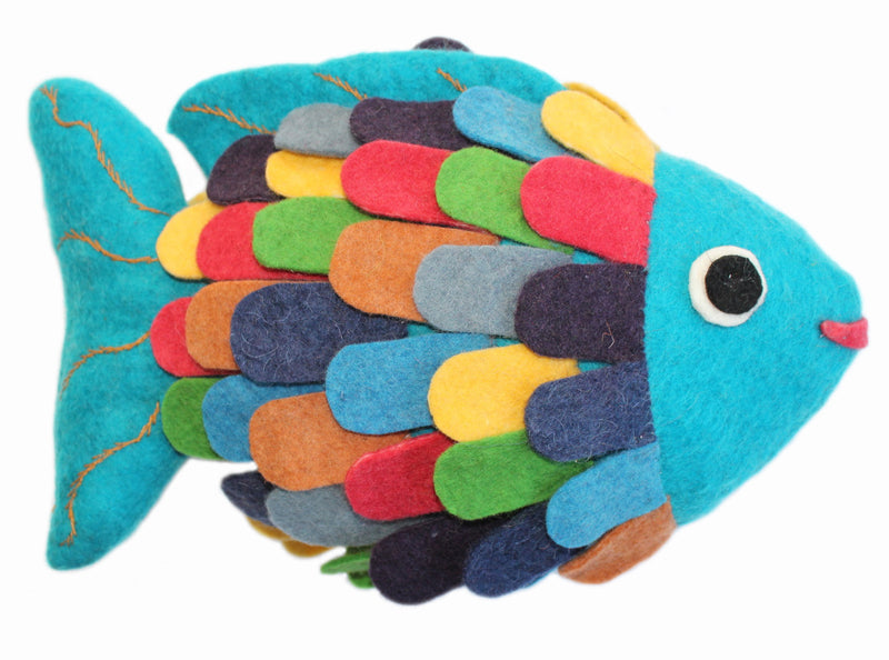 Rainbow Fish Felted Friend