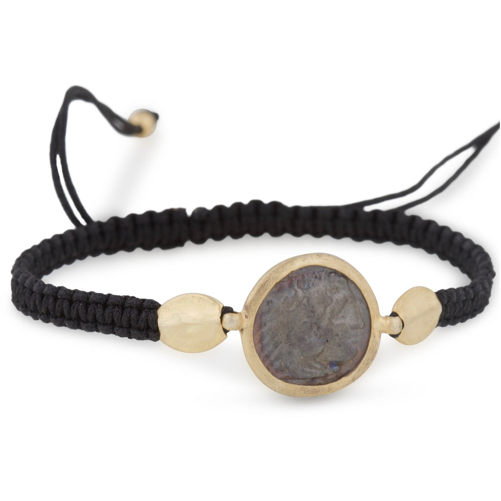 Greek Coin Wrist Braid