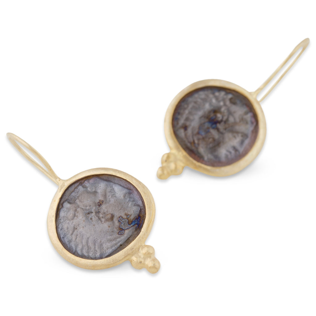Greek Coin Earrings