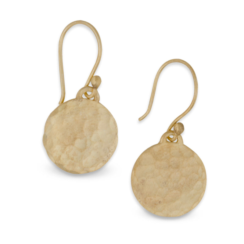 Matte Gold Disc Earrings