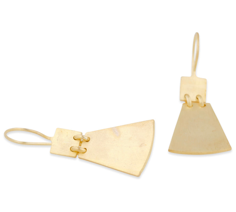 Tripty Matte Gold Earrings
