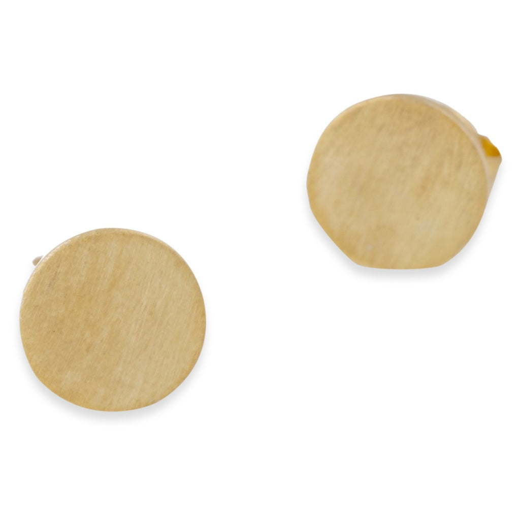Matte Gold Stud Earrings