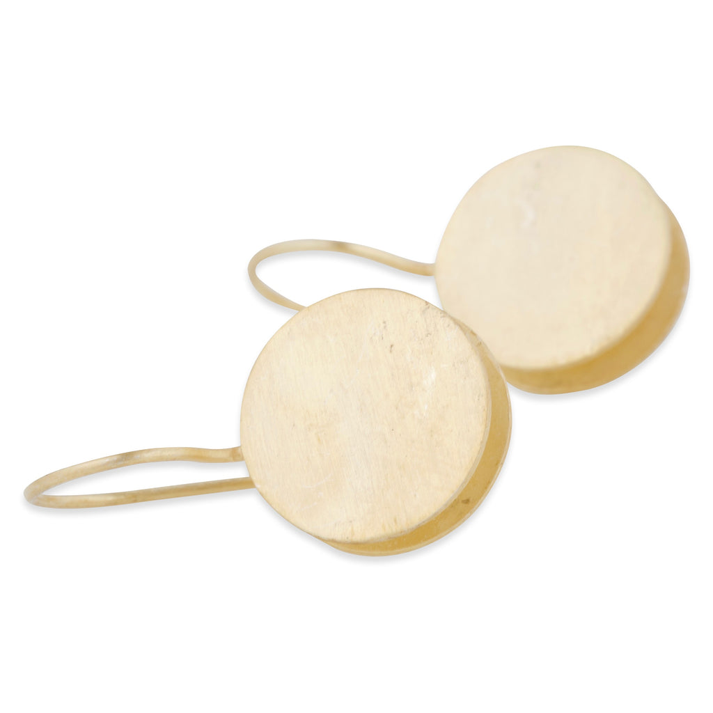 Matte Gold Double Disc Earrings