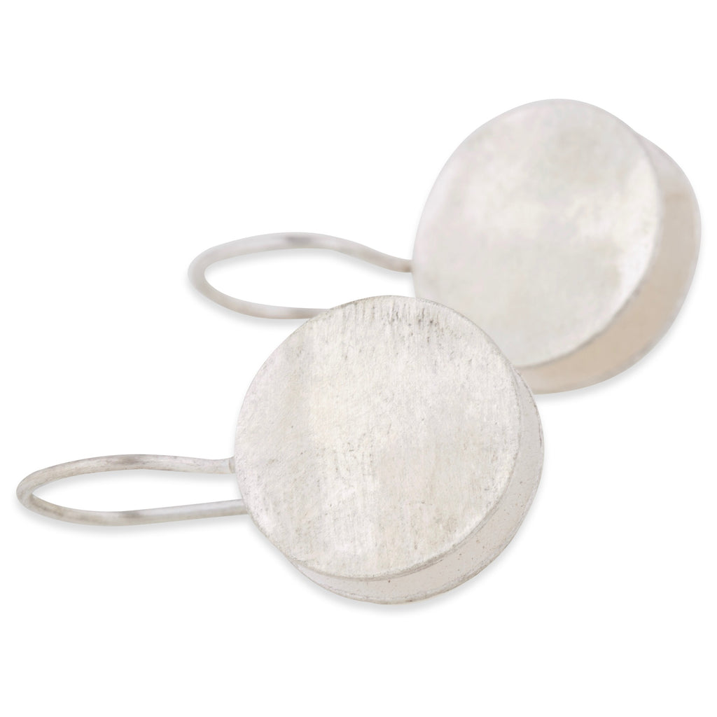 Silver Double Disc Earrings