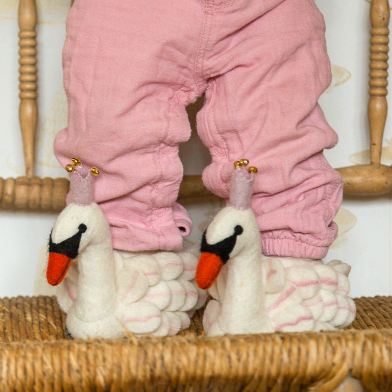 Children's Swan Slippers