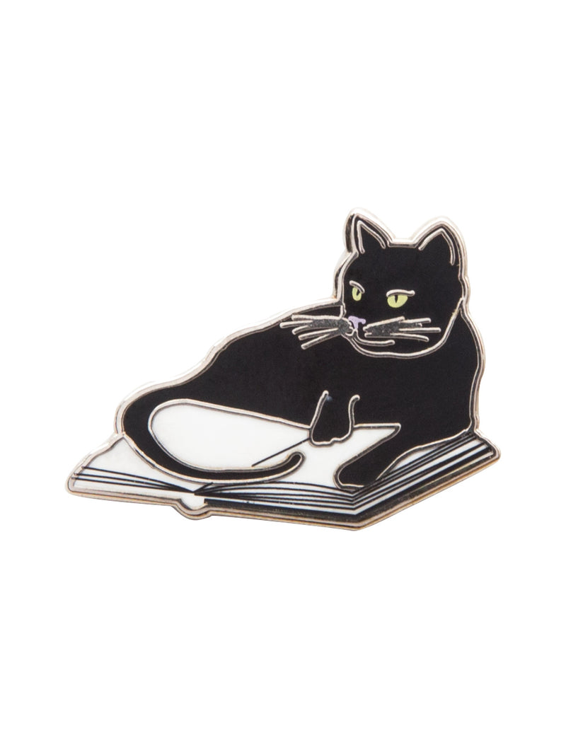 Bookstore Cat Enamel Pin