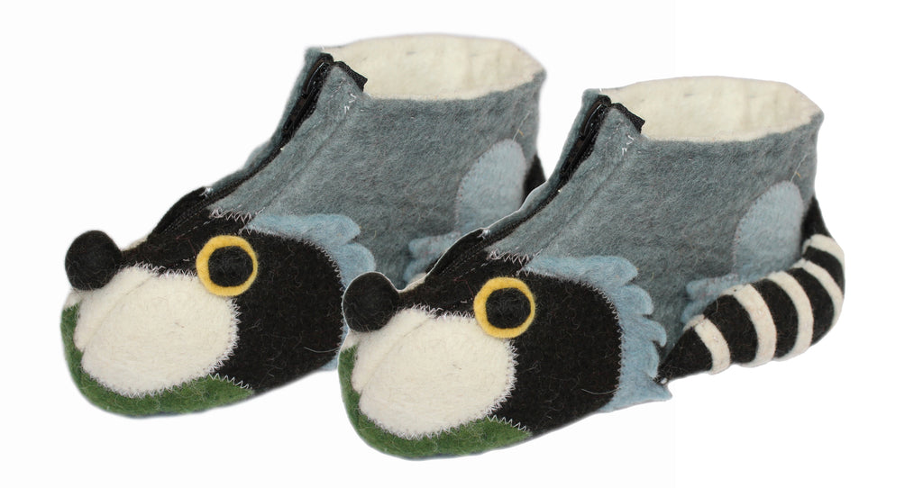 Raccoon Children's Slippers