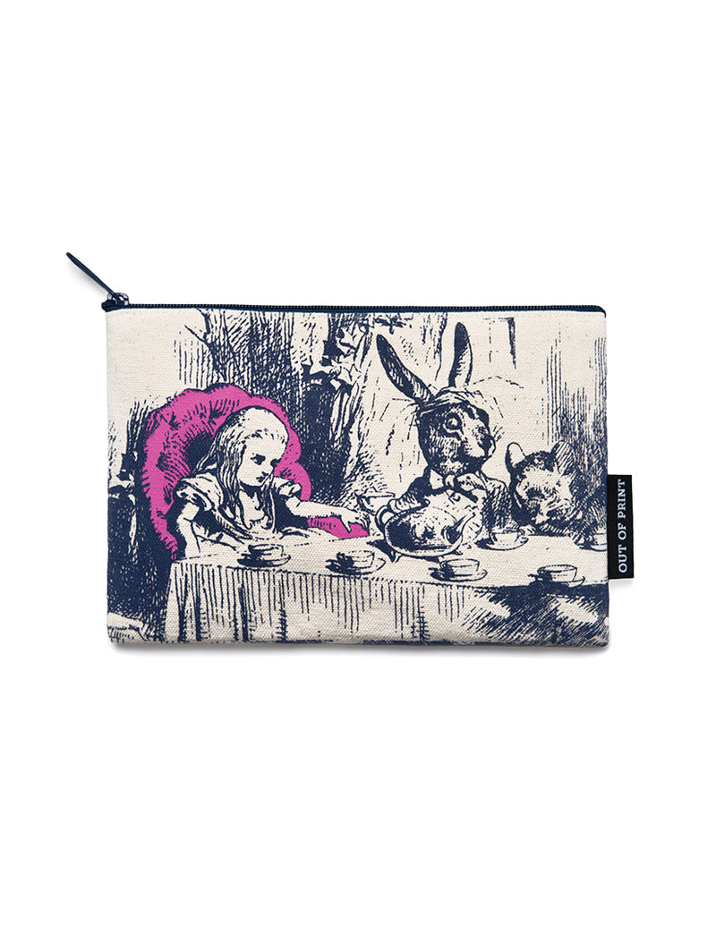 Alice In Wonderland Zipped Pouch