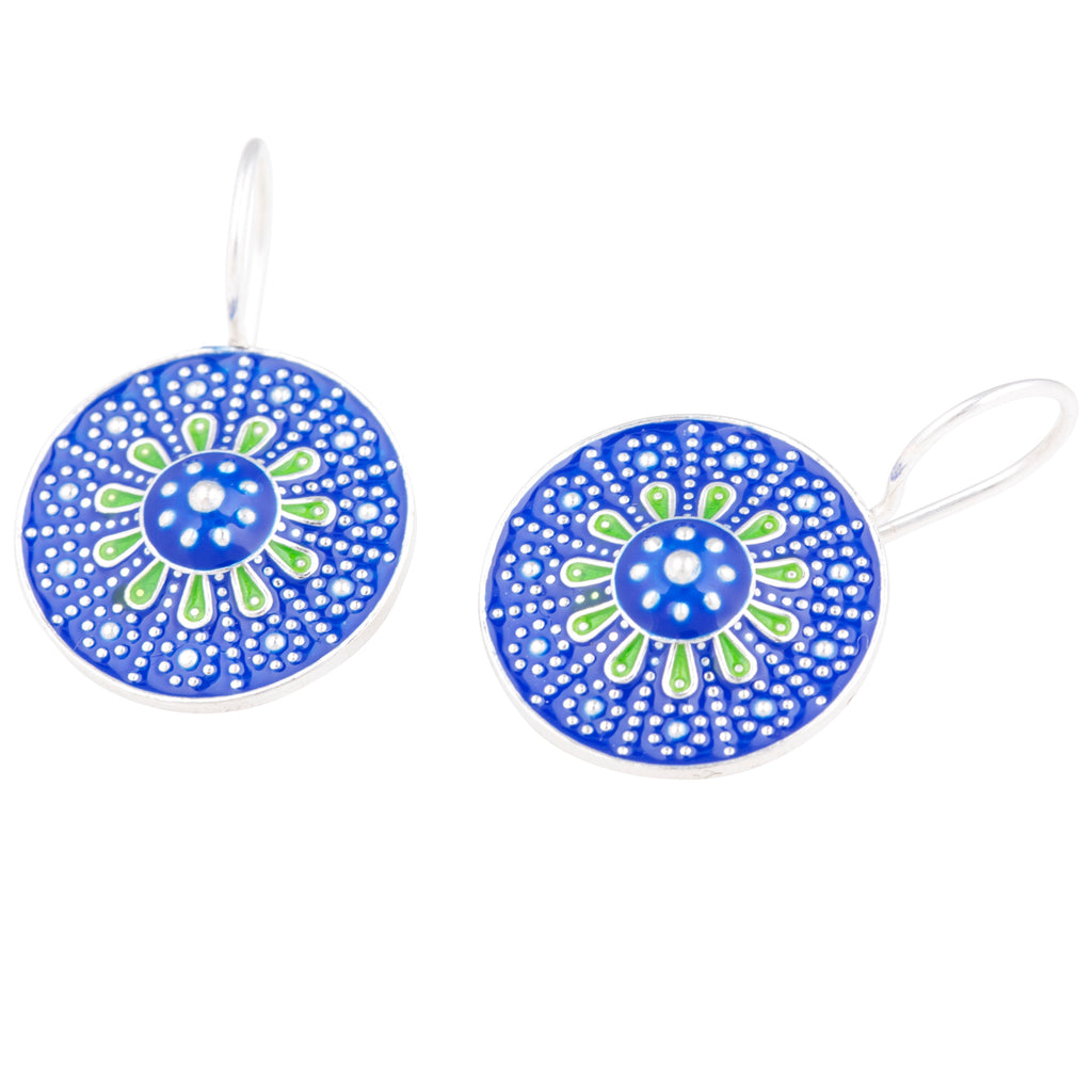Antalya Enamelled Earrings
