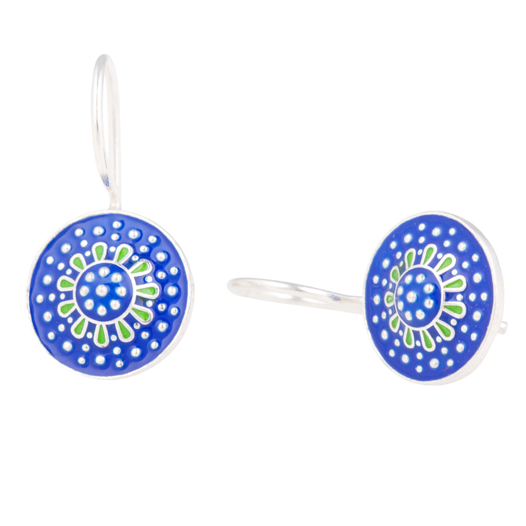 Antalya Enamelled Earrings - Small