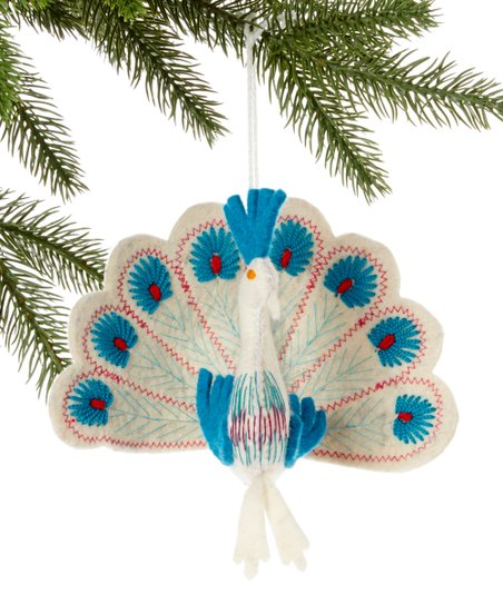 White & Turquoise Peacock