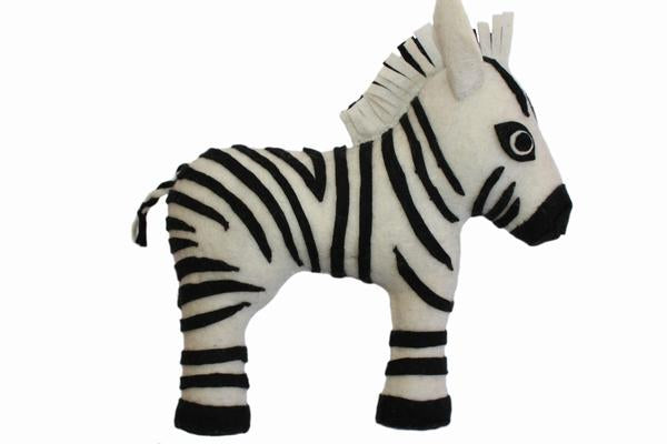 Zebra Felted Friend