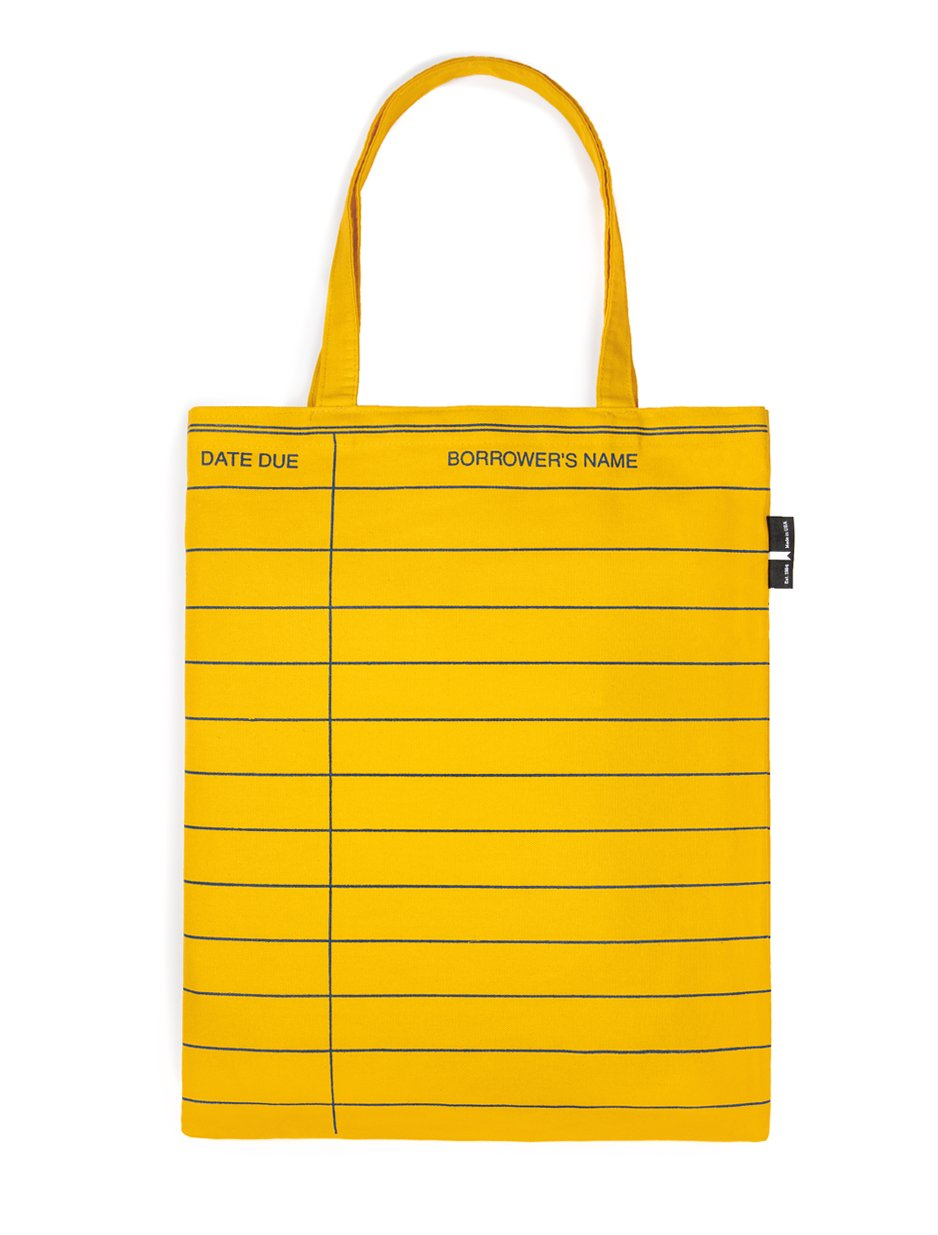 Yellow Library Card Tote
