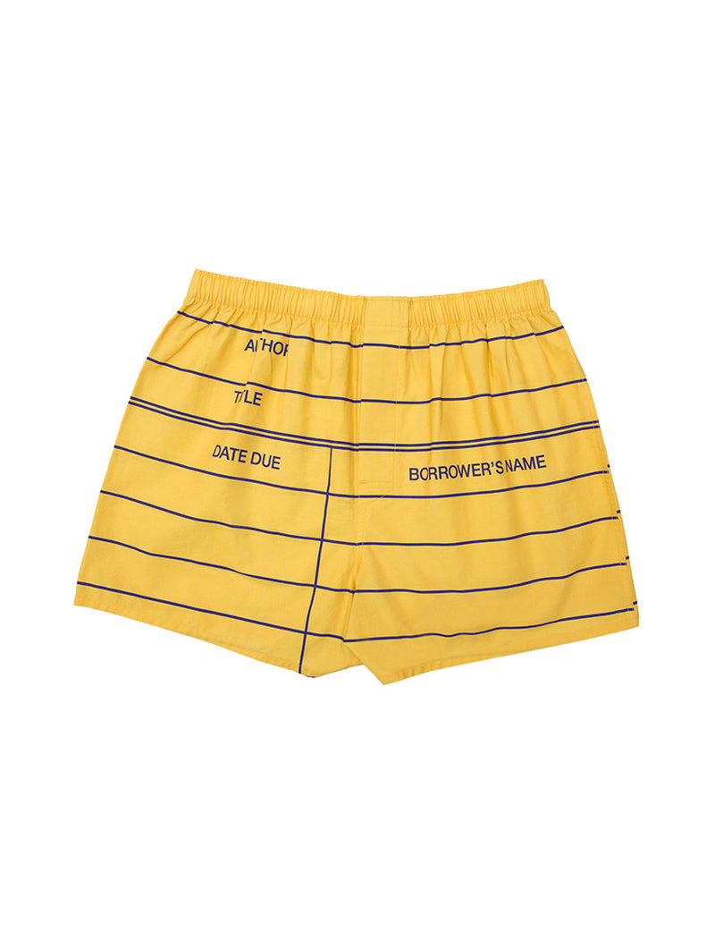 Yellow Library Card Unisex Boxers