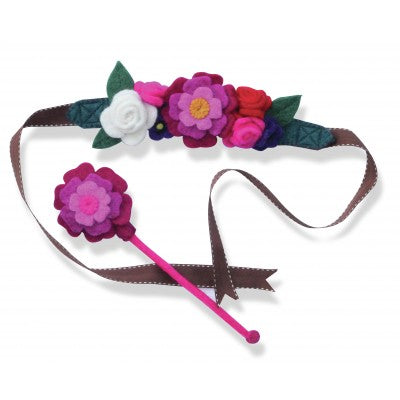 Garden Fairy Crown and Flower Wand