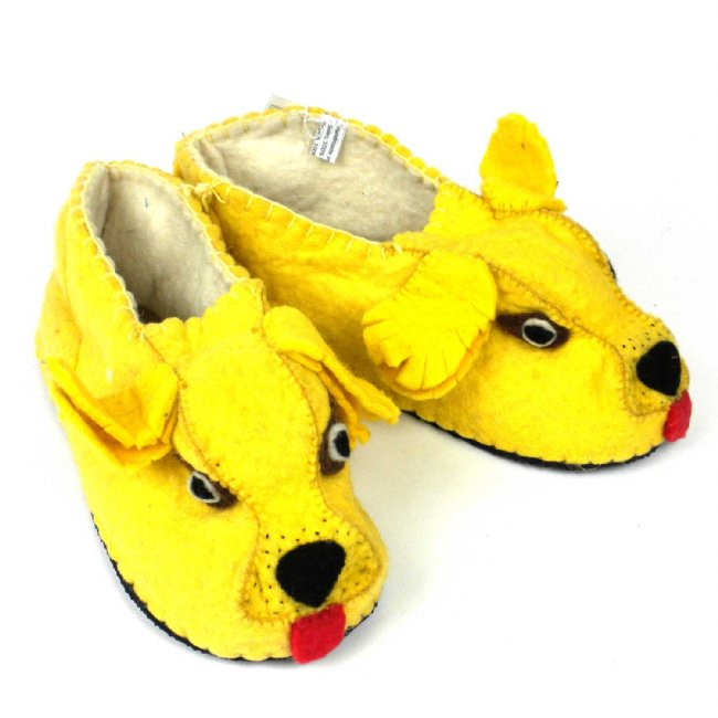 Adult's Golden Retriever Slippers