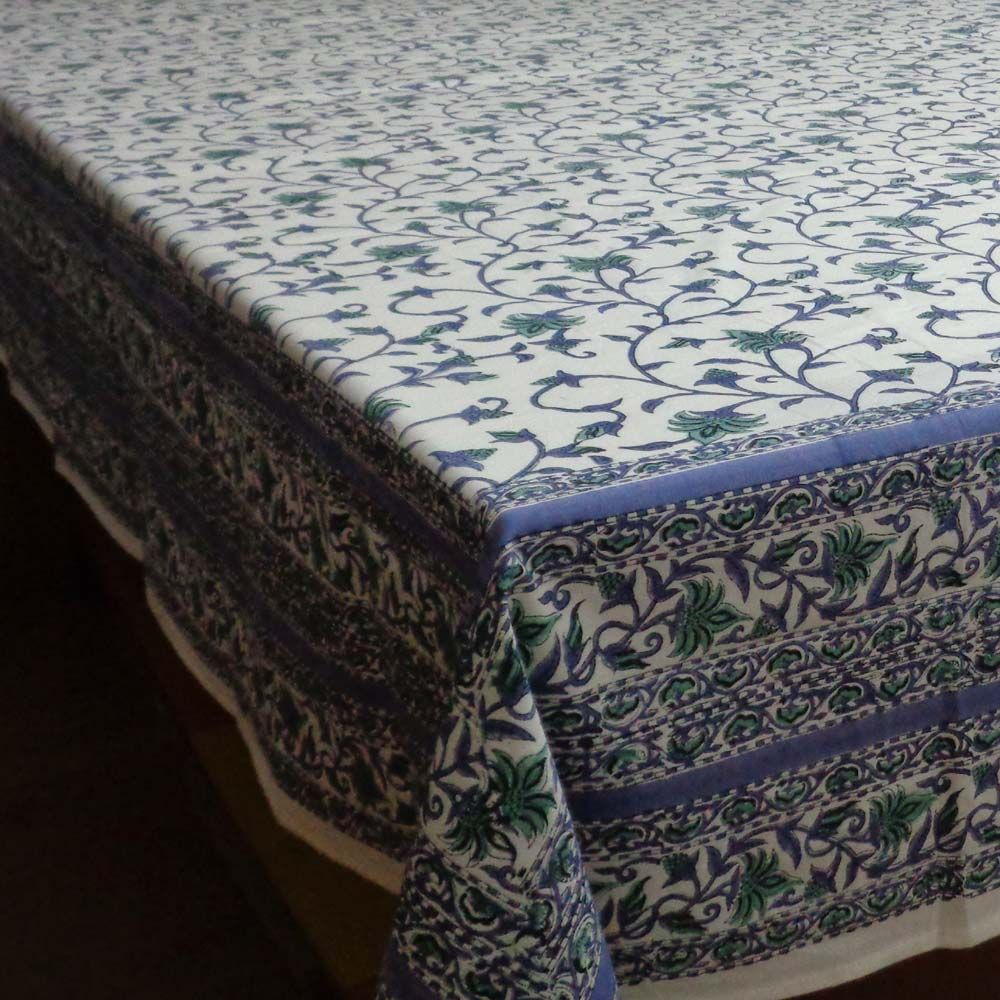 August Vine Round Handcrafted Tablecloth