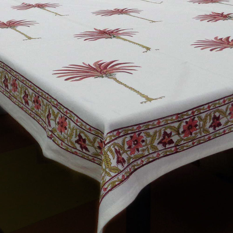 Riviera Blossom Handcrafted Tablecloth