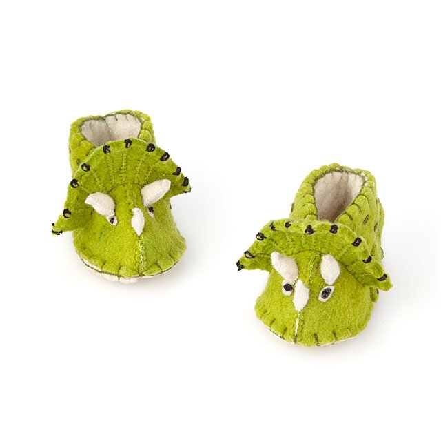 Triceratops Baby Booties