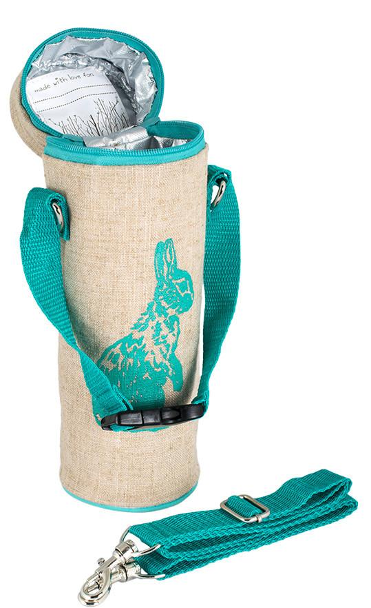 Aqua Bunny Water Bottle Bag