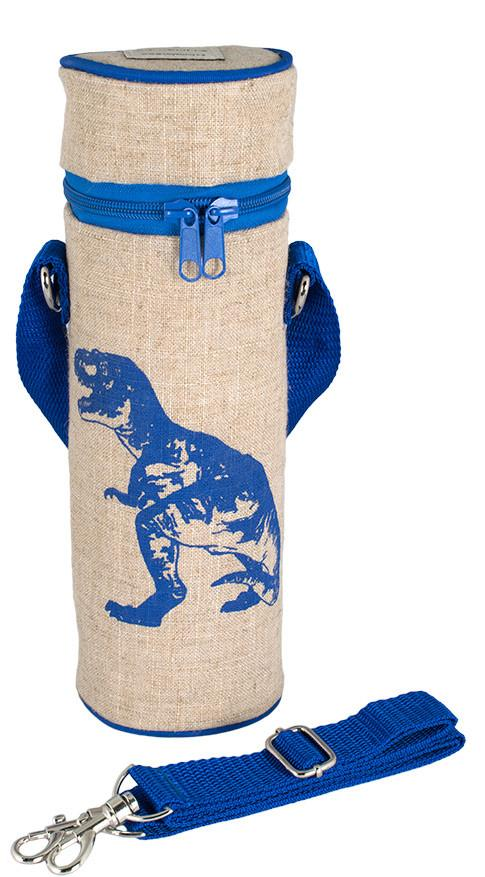 Blue Dino Water Bottle Bag