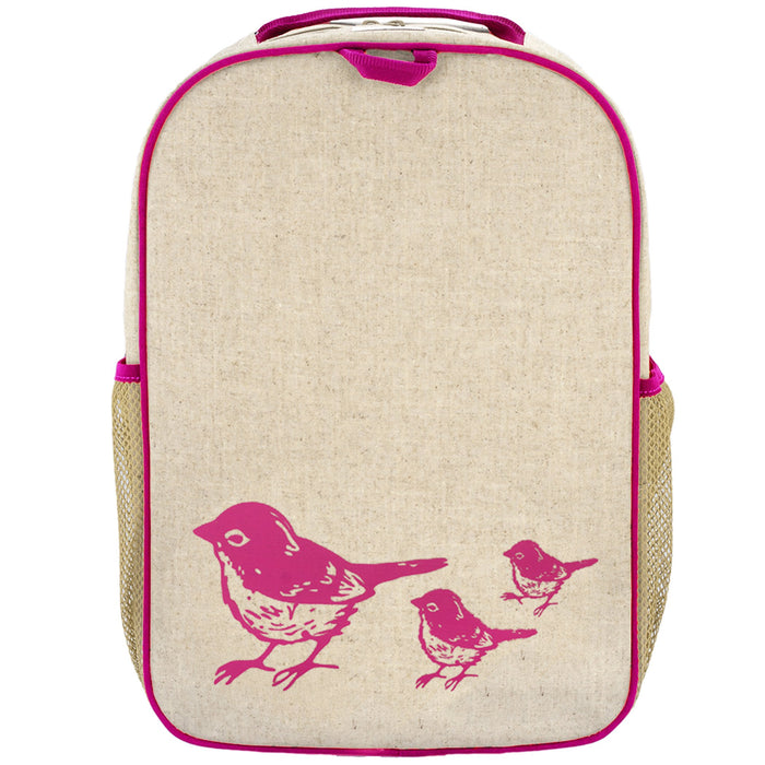 Pink Birds Grade School Backpack