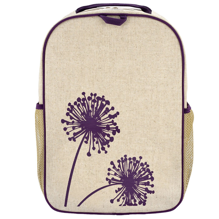 Purple Dandelion Grade School Backpack