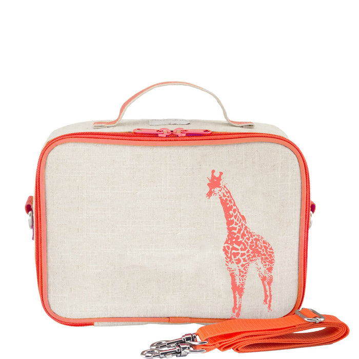 Neon Orange Giraffe Lunch Box