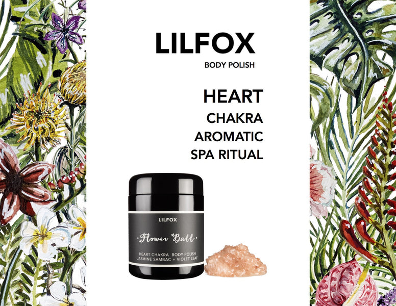 Flowerball Heart Chakra Body Polish | An Enticingly Aromatic Bath Soak + Polish