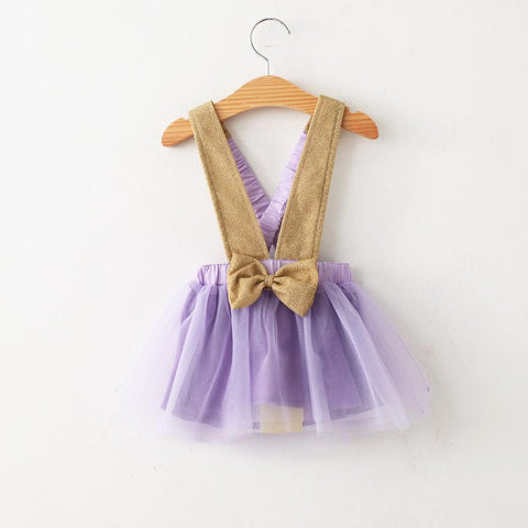 Purple and Gold Suspender Skirt