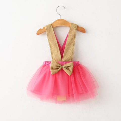 Pink and Gold Suspender Skirt