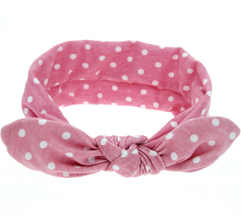 Polka Dot Knotted Headband